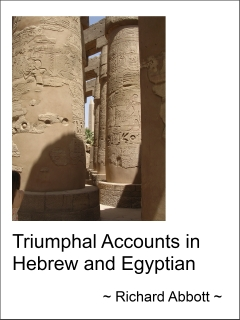 Cover image, Triumphal Accounts in Hebrew and Egyptian